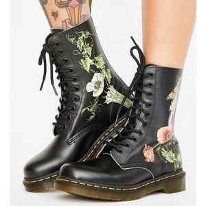 NEW dr martens wild botanical goth Halloween boots